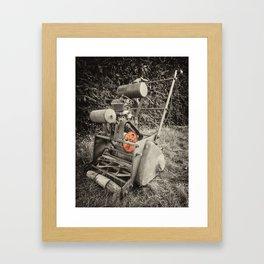 Vintage Mower  Framed Art Print