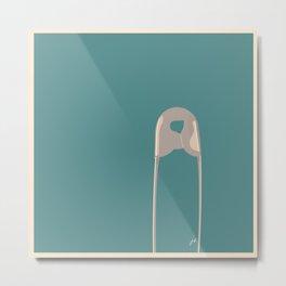 Safety Pin Metal Print