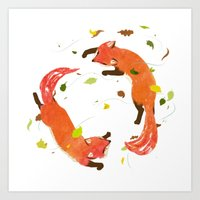 YZ in the Forest Art Print