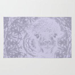 Ghostly alpaca and Lilac-gray mandala Rug