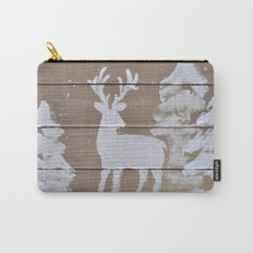 Wood slat deer in the snowy woods Carry-All Pouch