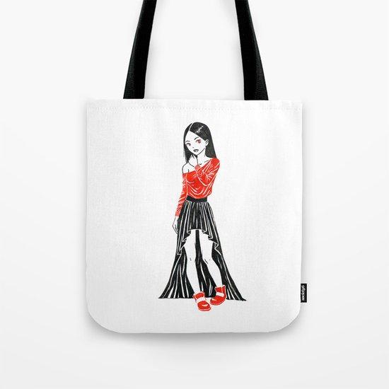 Girl in Dress Tote Bag