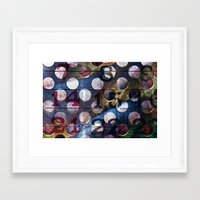 grid Framed Art Prints featuring Grid by Stephen Linhart