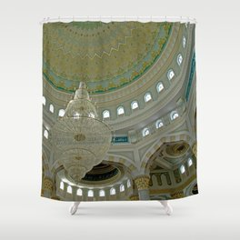 ARCH ABSTRACT 16: Nur-Astana Mosque, Astana Shower Curtain