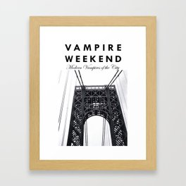 Vampire Weekend / George Washington Bridge Framed Art Print