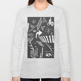 Traffic - crosswalks and bike lanes in NYC Long Sleeve T-shirt
