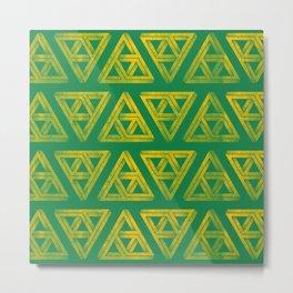 Penrose Triforce Pattern Metal Print