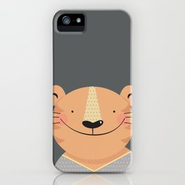 Tiger in pajamas iPhone Case