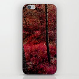 Red forest landscape electric alien iPhone Skin