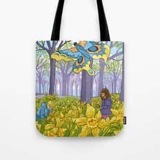 Kites and Daffodils Tote Bag