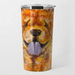 Chow Chow with Balloons Travel Mug