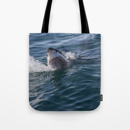 Great White Shark smiles Tote Bag