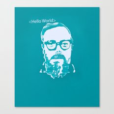 Hello World - This is a portrait of Dennis Ritchie  Canvas Print