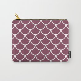 Mulberry Fish Scales Pattern Carry-All Pouch