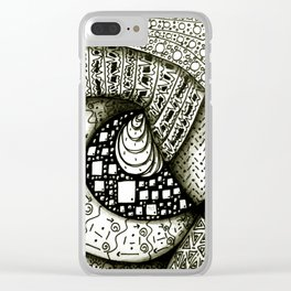 Zentangle Clear iPhone Case
