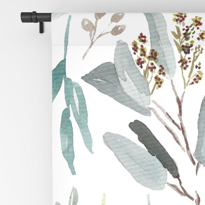 Eucalyptus pattern Blackout Curtain