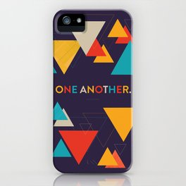 One Another Scripture Poster (Romans 15) iPhone Case