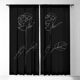 White Rose Blackout Curtain