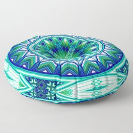 Sacred Places Green Floor Pillow