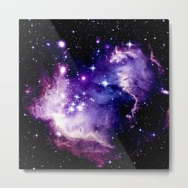 Galaxy .  Deep Purple & Blue Metal Print