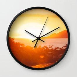 Hawaii Kai Sunset Wall Clock