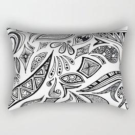 Black and white pattern Rectangular Pillow