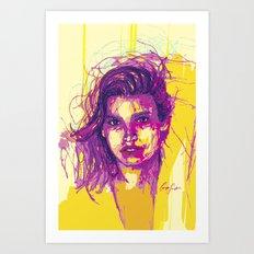 Digital Drawing #21 - Gia Marie Carangi Art Print