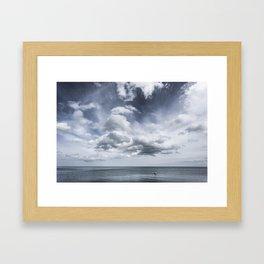 Sky and Ocean Framed Art Print