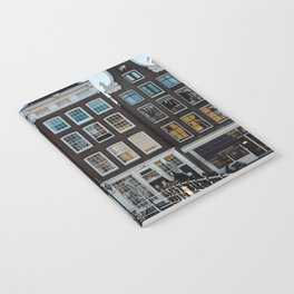 Amsterdam architecture   Travel photography   Buildings and the canals   The Netherlands   Art Print Notebook