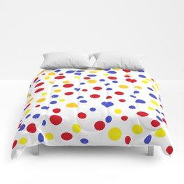 drops of colourful dots Comforters