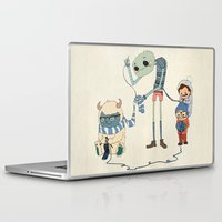 knitting Laptop & iPad Skins featuring Knitting Train by Michael Mossner