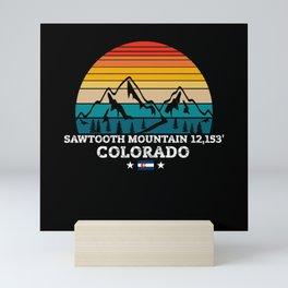 SAWTOOTH MOUNTAIN Colorado Mini Art Print