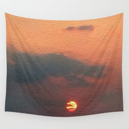 Dragon steals the Sun Wall Tapestry