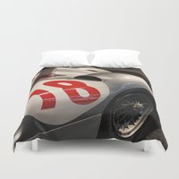 mercedes Duvet Covers featuring Silver Arrows by Internal Combustion