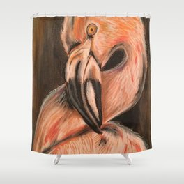Flamingo Art Flamingo Print Flamingos Shower Curtain