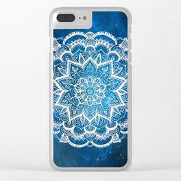 Mandala into Galactic stars Clear iPhone Case