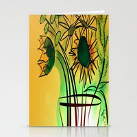 leah flores Stationery Cards featuring Flores by transFIGure