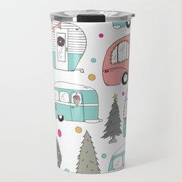 Retro Christmas Campers Travel Mug