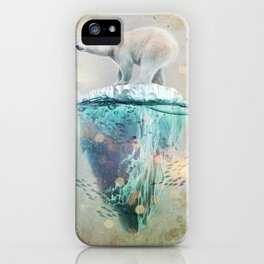 Polar Bear Adrift iPhone Case