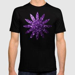 Beautiful Dark Purple glitter sparkles T-shirt