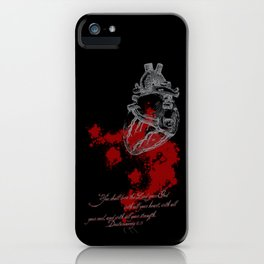 With all your heart iPhone Case