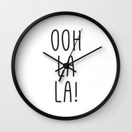 French Prints, Oh La La, Typography Print, Girl Quotes, French Art, Digital Art, Wall Prints Wall Clock