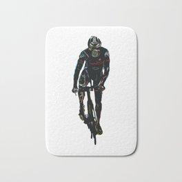 Triathlete in Cycling Bath Mat