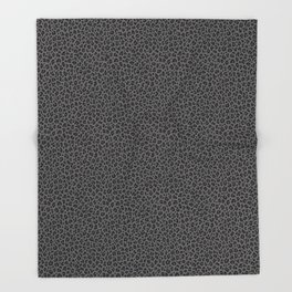 LEOPARD PRINT in Black & Gray / Collection : Leopard spots – Punk Rock Animal Print Throw Blanket