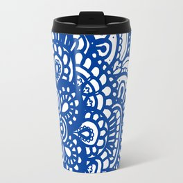 Floral II - Bule Travel Mug