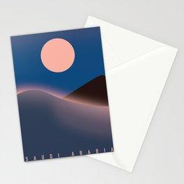Saudi Arabia Travel poster, Stationery Cards