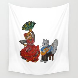 Cats and Flamenco Wall Tapestry
