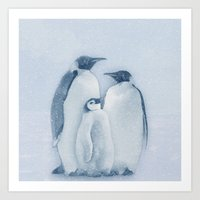 penguins Art Prints featuring Penguins by Asya Solo