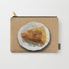 Pizza Slice on a Plate Geometry Polygon Design Illustration Carry-All Pouch
