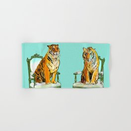 animals in chairs # 21 The Tigers Hand & Bath Towel